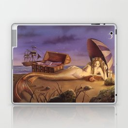 The Reading Mermaid by David Delamare (uncropped) Laptop & iPad Skin