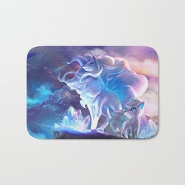Alolan Ninetales  and Vulpix Bath Mat