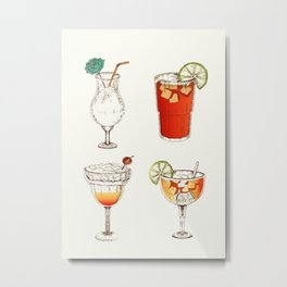 Cocktails Metal Print