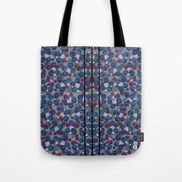 blue stripes ankara Tote Bag
