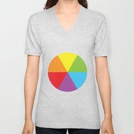 rainbow colour wheel Unisex V-Neck