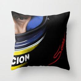 Senna Helmet Portrait Throw Pillow