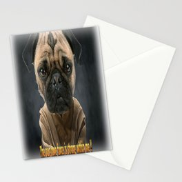 Pug love force  Stationery Cards