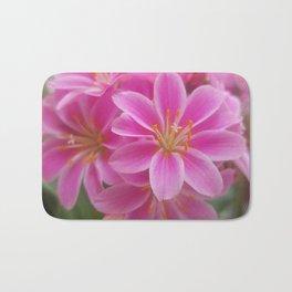 Tina's Garden: Pink Flower Bath Mat