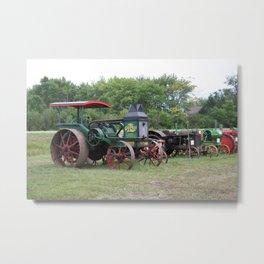 Vintage Tractors 2 Metal Print