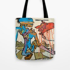 'Walking the Meat Cake!!' painting by Amos Duggan Tote Bag