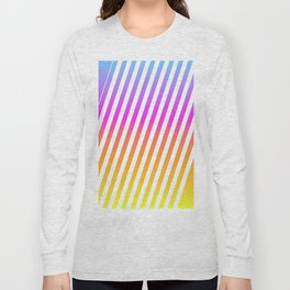 abstract lines mockup oblique Long Sleeve T-shirt