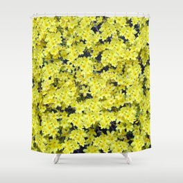 Happy Forsythia Shower Curtain
