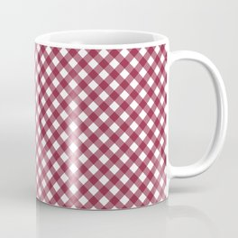 Vintage Red and White Gingham Pattern Coffee Mug