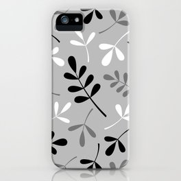 Assorted Leaf Silhouettes Monochrome iPhone Case