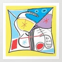 fabric Art Prints featuring Fabric by Matt Vaillette