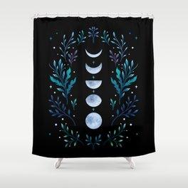 Moonlight Garden - Blue Shower Curtain