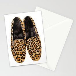 Leopard Loafers Stationery Cards