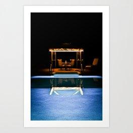 A Swim At Midnight Art Print