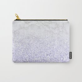 She Sparkles - Pastel Purple Glitter Marble Carry-All Pouch
