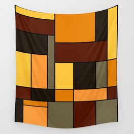 Mondrian Autumn Wall Tapestry