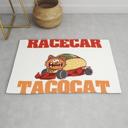 "Perfect Gift For Any Tacos Lovers ""Tacocat Racecar Spelled Backward Is Tacocat Racecar"" T-shirt Rug"