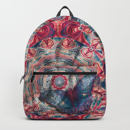 Luminous camouflaged butterfly Backpack