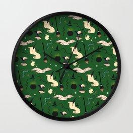 Slytherin Pattern Wall Clock