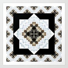diamond cross pattern with borders Art Print