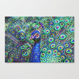 Brilliant Jeweled Peacock Canvas Print