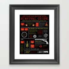 The Hunters Survival Guide Framed Art Print