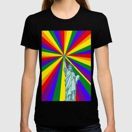 Rainbow liberty NYC GAY PRIDE STONEWALL LGBT T-shirt