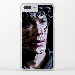 Bellamy Vector Portrait Clear iPhone Case