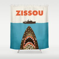 zissou Shower Curtains featuring Zissou by Wharton