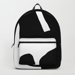 Nude silhouette figure - Nude black 001 Backpack