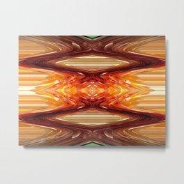Intrepid Zigzags Metal Print