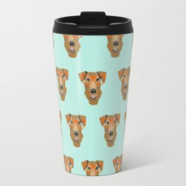 Airedale Glasses airedale dog print airedale pillow dog pattern Travel Mug