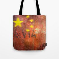 china Tote Bags featuring China by Arken25