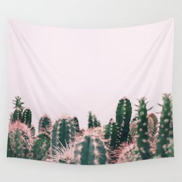 Pink Blush Cactus Wall Tapestry