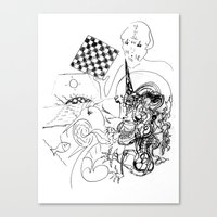 chess Canvas Prints featuring Chess. by sonigque
