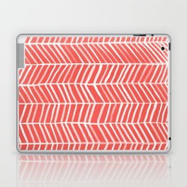 Coral Herringbone Laptop & iPad Skin