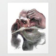 Red Ogre Art Print