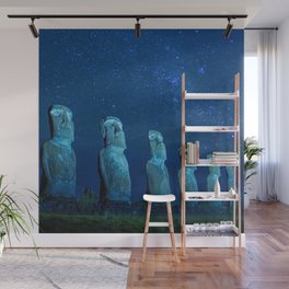Easter Island by night Wall Mural