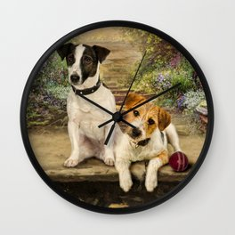 Scruffy and Slim Wall Clock
