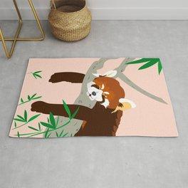 Snoozing Red Panda Rug