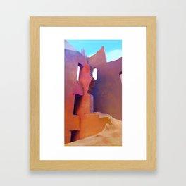 Ruins Of The Tamedakhte Kasbah Framed Art Print
