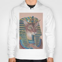 egyptian Hoodies featuring Egyptian Cat by Rachel Waterman
