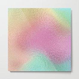 Simply Metallic in Iridescent Rainbow Metal Print