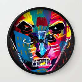 head 001 Wall Clock