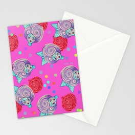 doll heads Stationery Cards