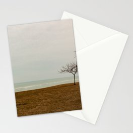 Goderich lighthouse panorama Stationery Cards
