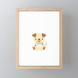 Boys Dog Gift design Framed Mini Art Print