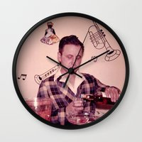 whiskey Wall Clocks featuring Whiskey Guy by 3 monsters