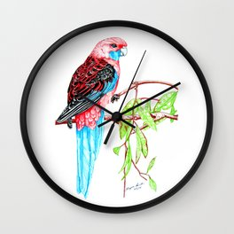 Blue Tail Parrot- Greenday Wall Clock