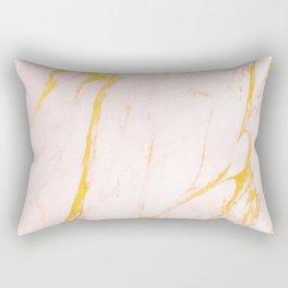 Modern blush pink faux gold abstract marble pattern Rectangular Pillow